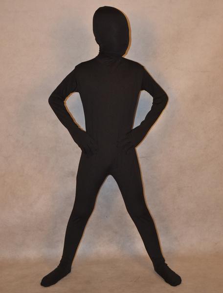Milanoo Classic Suit Halloween Black Spandex Full Bodysuit for Kids Halloween