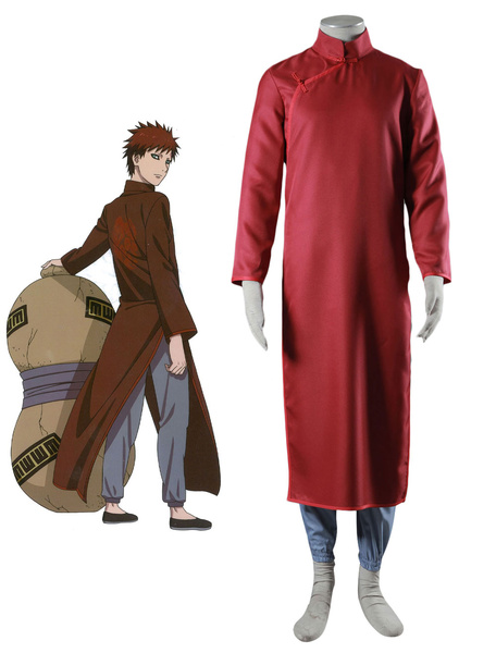Milanoo Naruto Sabaku No Gaara Cosplay Costume Chinese Style Cheongsam Version Halloween