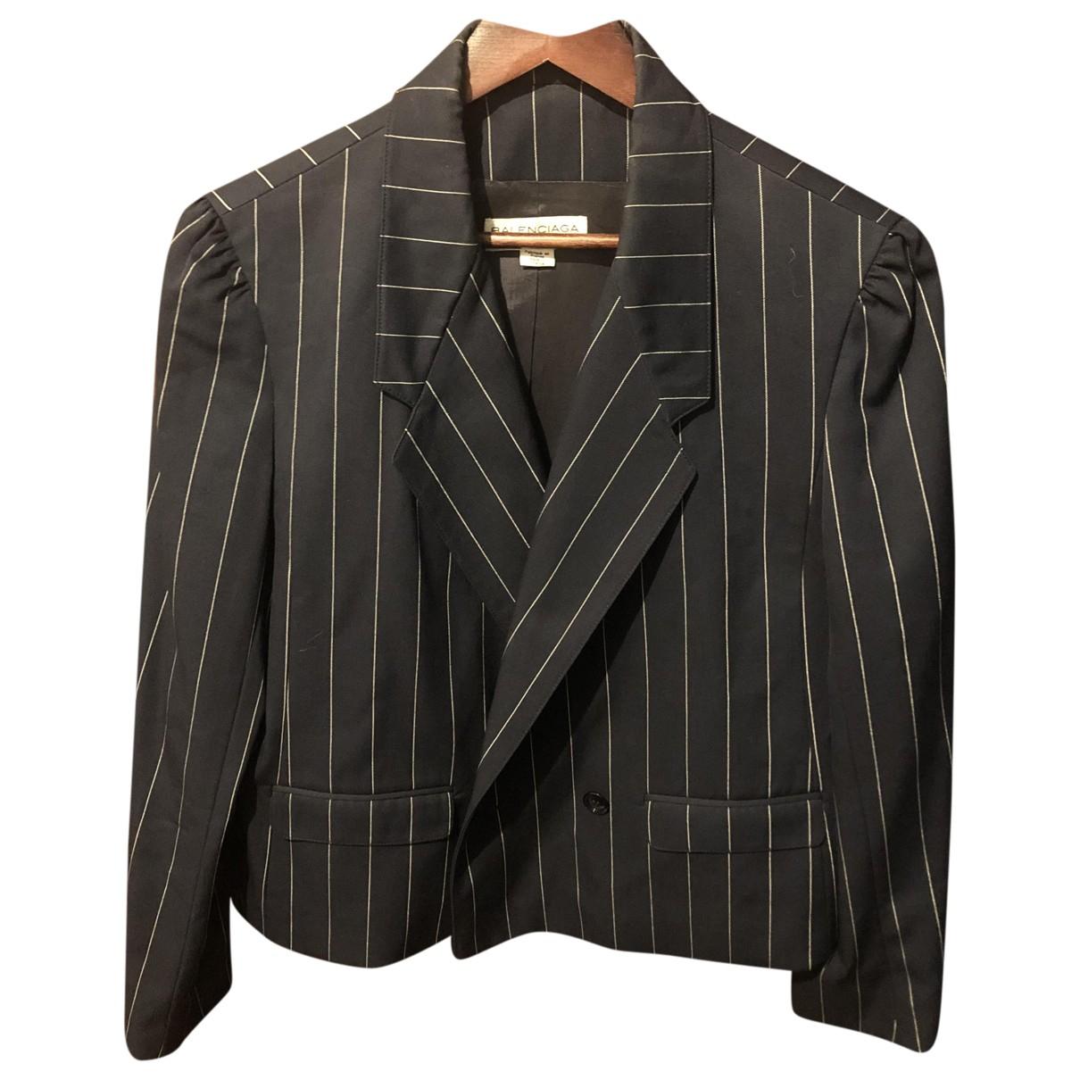 Balenciaga \N Blue Wool jacket for Women 44 FR