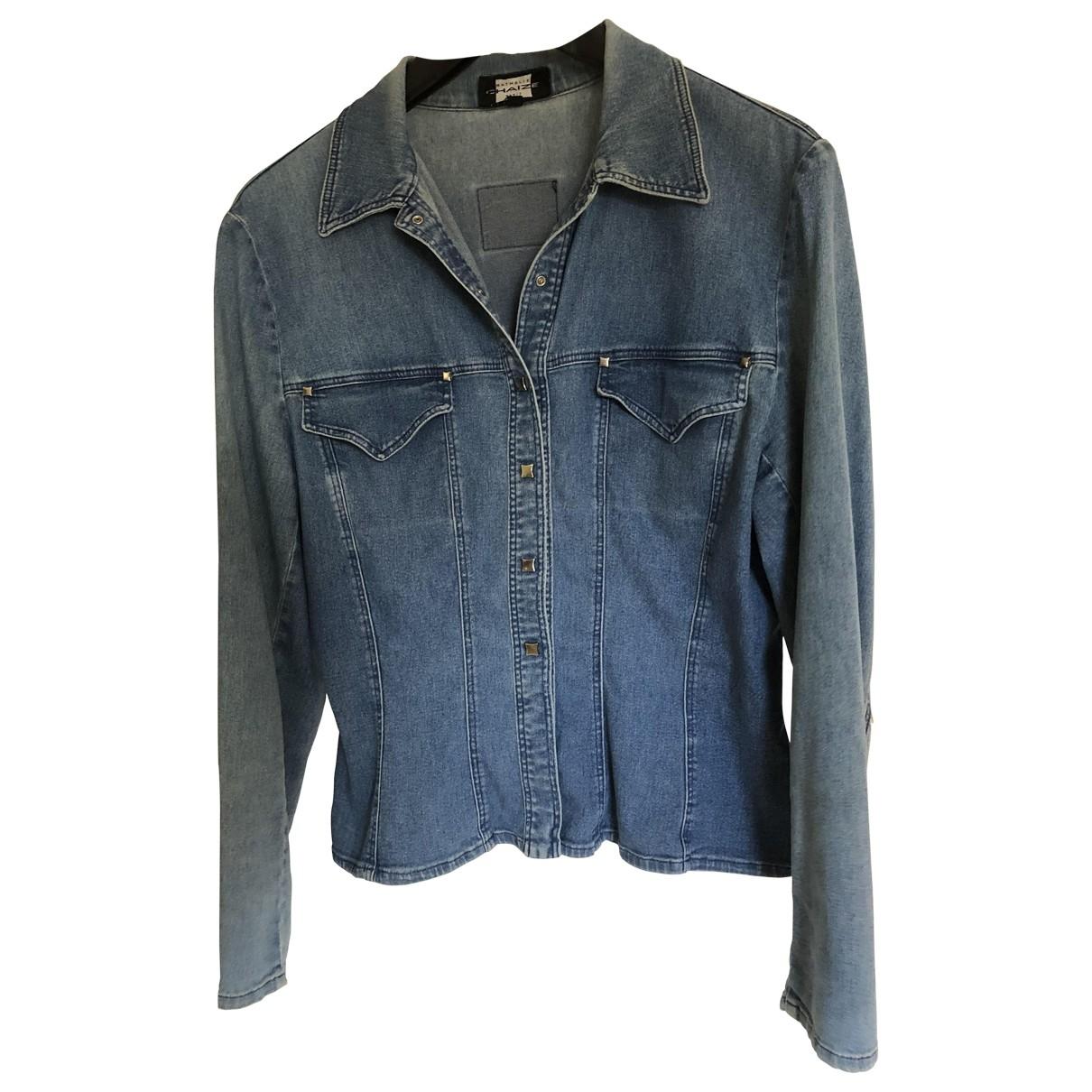 Non Signé / Unsigned \N Blue Denim - Jeans jacket for Women 42 FR