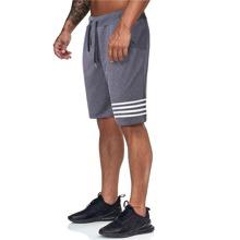 Men Striped Slant Pocket Drawstring Shorts