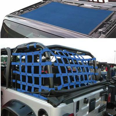DirtyDog 4x4 Sun Screen with Rear Cargo Net - J2NS07RCBL