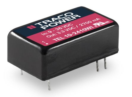 TRACOPOWER TEL 10WI 10W Isolated DC-DC Converter Through Hole, Voltage in 18 → 75 V dc, Voltage out 5V dc