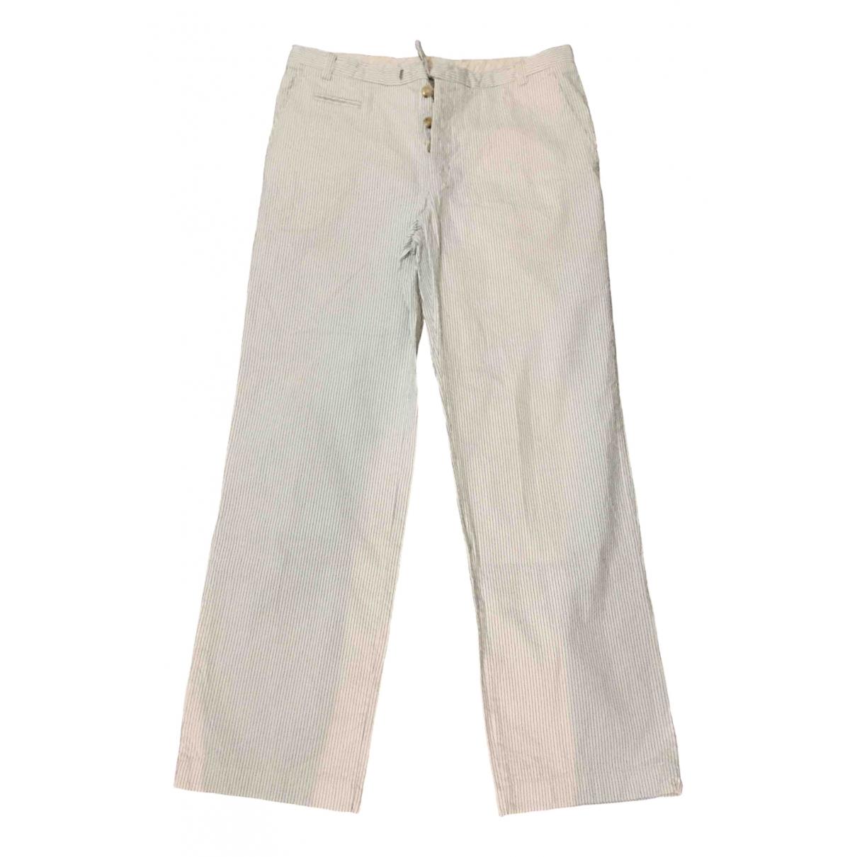 Non Signé / Unsigned \N Cotton Trousers for Men 50 IT