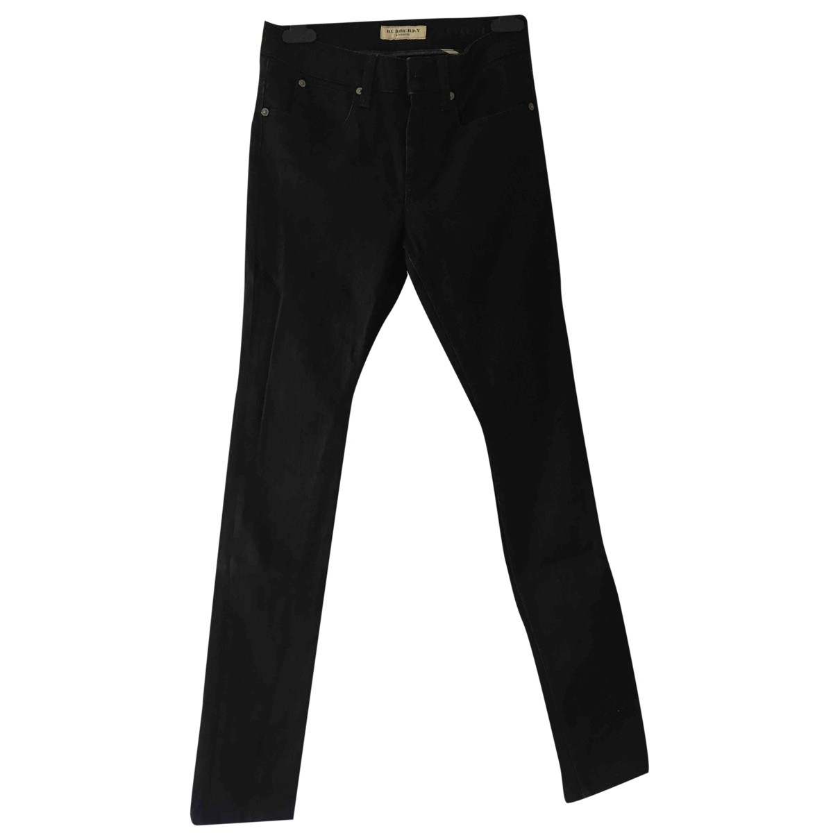 Burberry \N Black Cotton - elasthane Jeans for Women 26 US