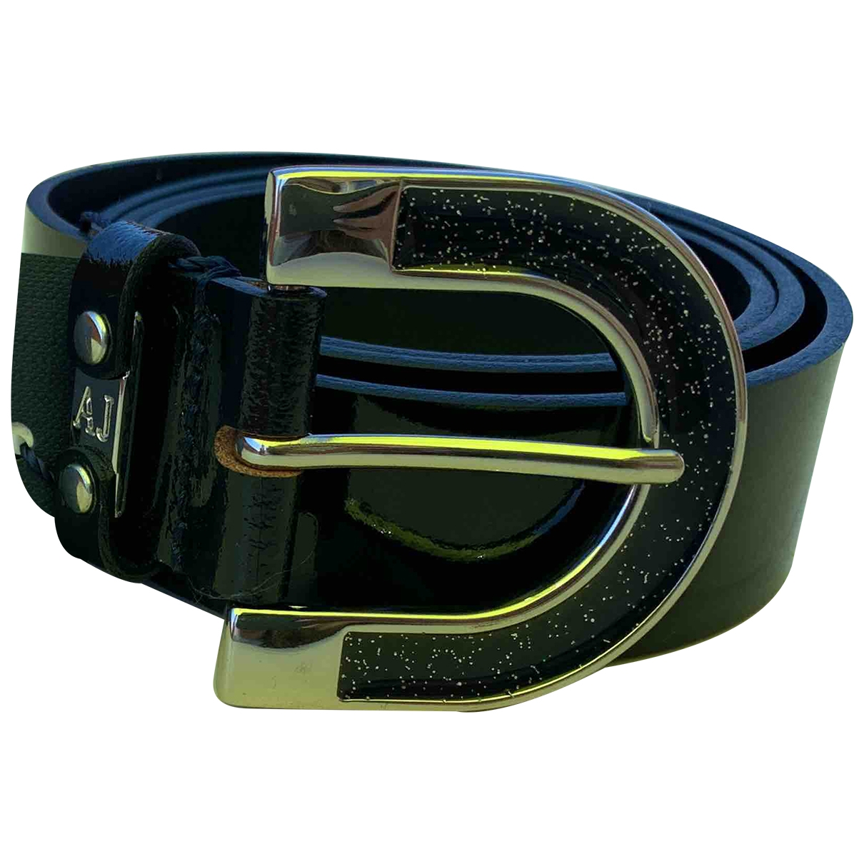 Armani Jeans \N Black Leather belt for Women 95 cm