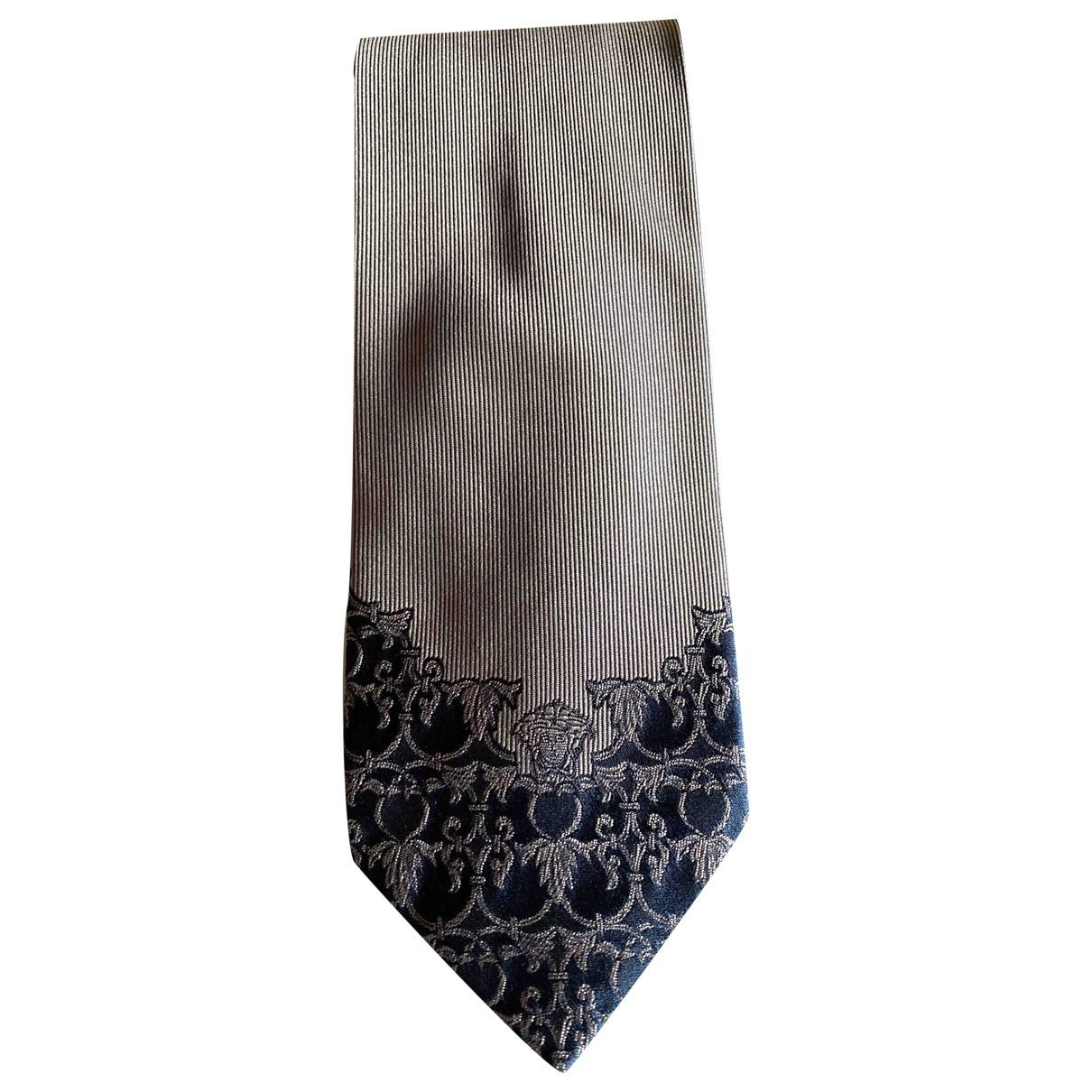 Versace \N Silver Silk Ties for Men \N