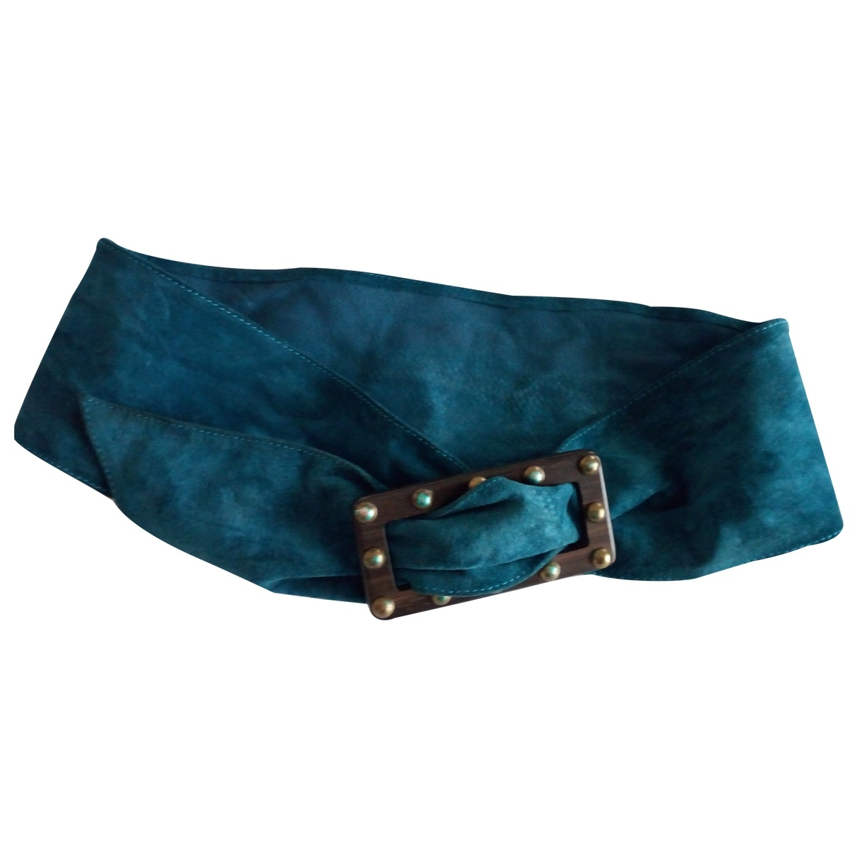 Non Signé / Unsigned \N Green Suede belt for Women 95 cm