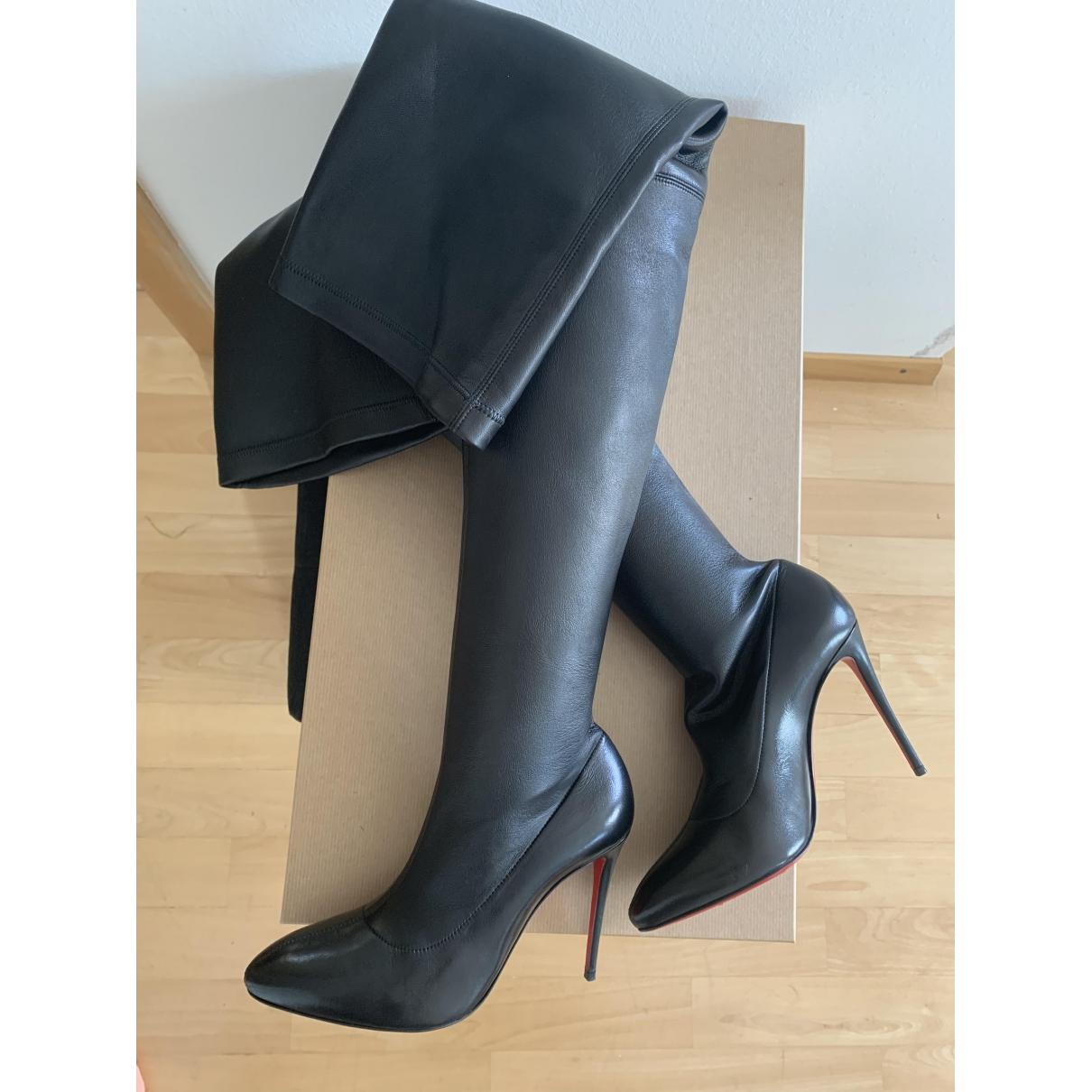 Christian Louboutin \N Black Leather Boots for Women 37 EU