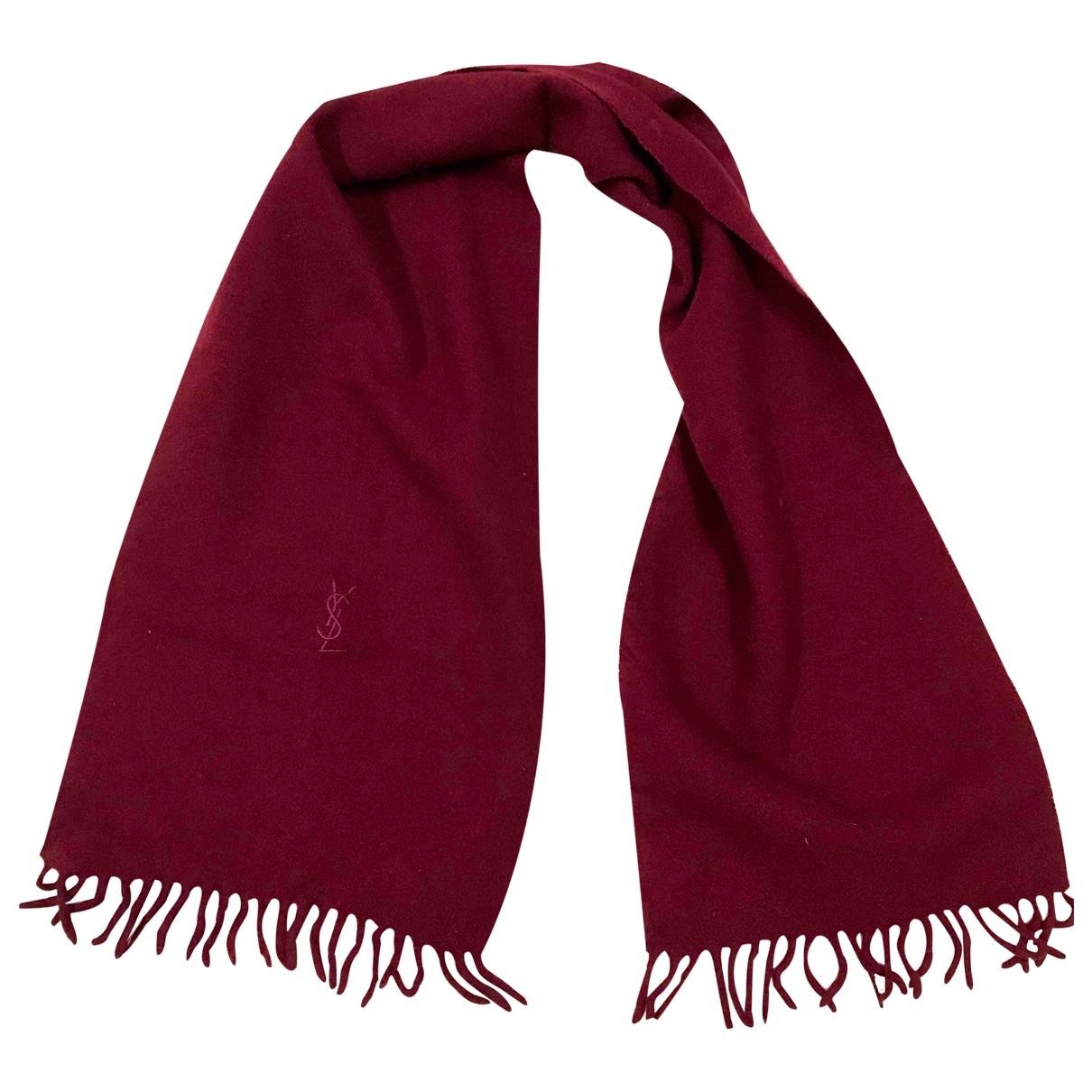 Yves Saint Laurent \N Red Wool scarf for Women \N