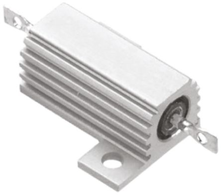 TE Connectivity THS50 Series Aluminium Housed Solder Lug Wire Wound Panel Mount Resistor, 100mΩ ±5% 50W