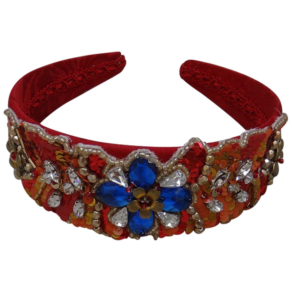 Dolce & Gabbana \N Red Cloth Hair accessories for Women \N