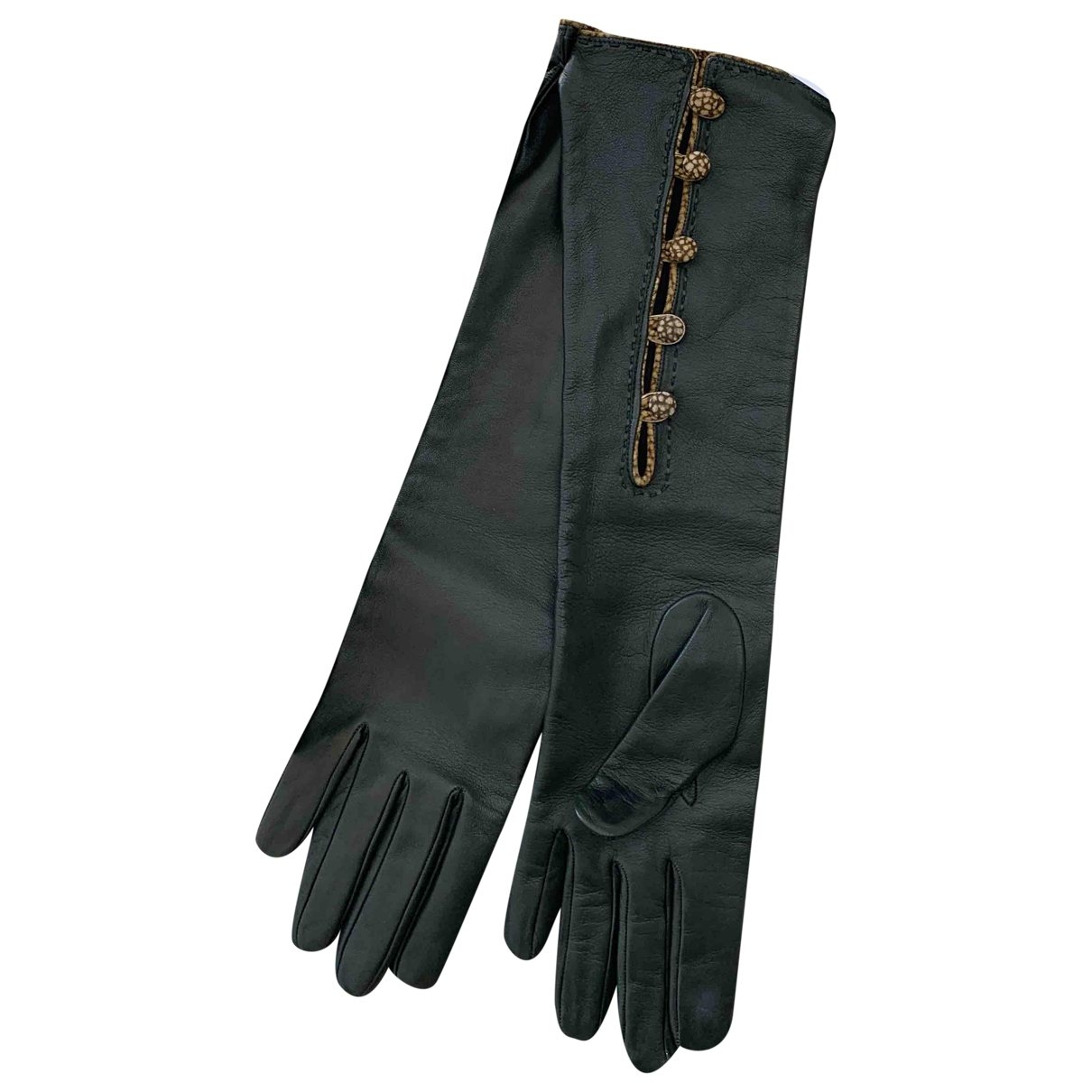 Non Signé / Unsigned \N Green Leather Gloves for Women S International