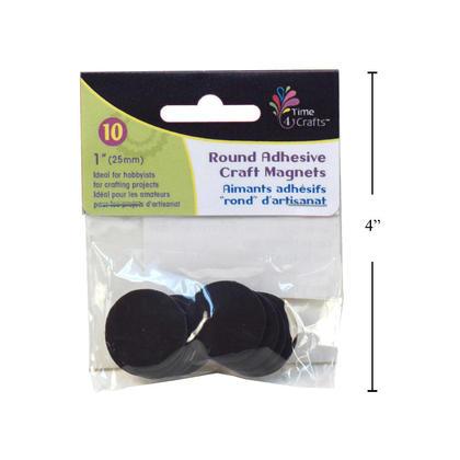 Disques magnétiques ronds avec support adhésif, 25mm de diamètre, 10 morceaux