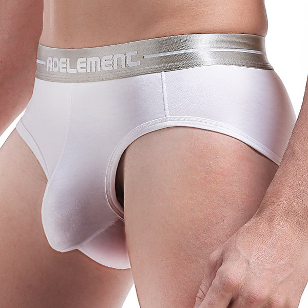 Sexy U Convex Independent Pouch Breathable Modal Solid Color Brief Underwear for Men