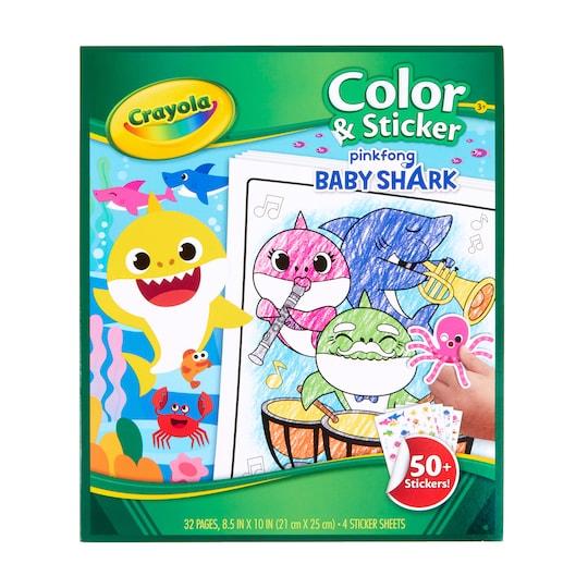 Crayola® Baby Shark Color & Sticker Book | Michaels®