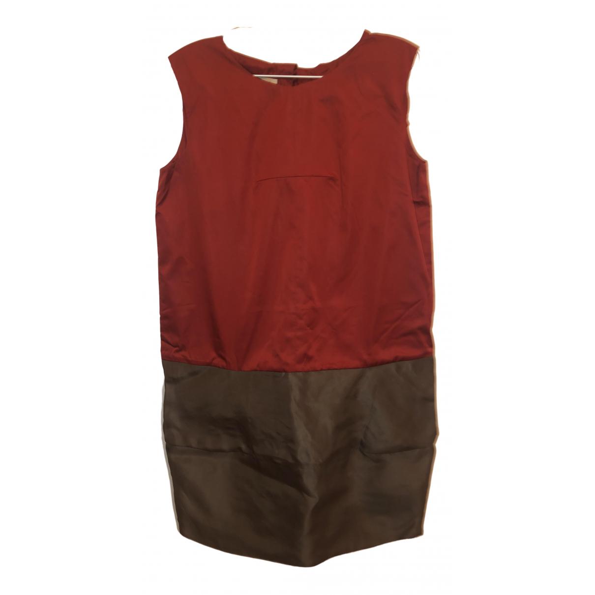 Marni \N Red Silk dress for Women 42 FR