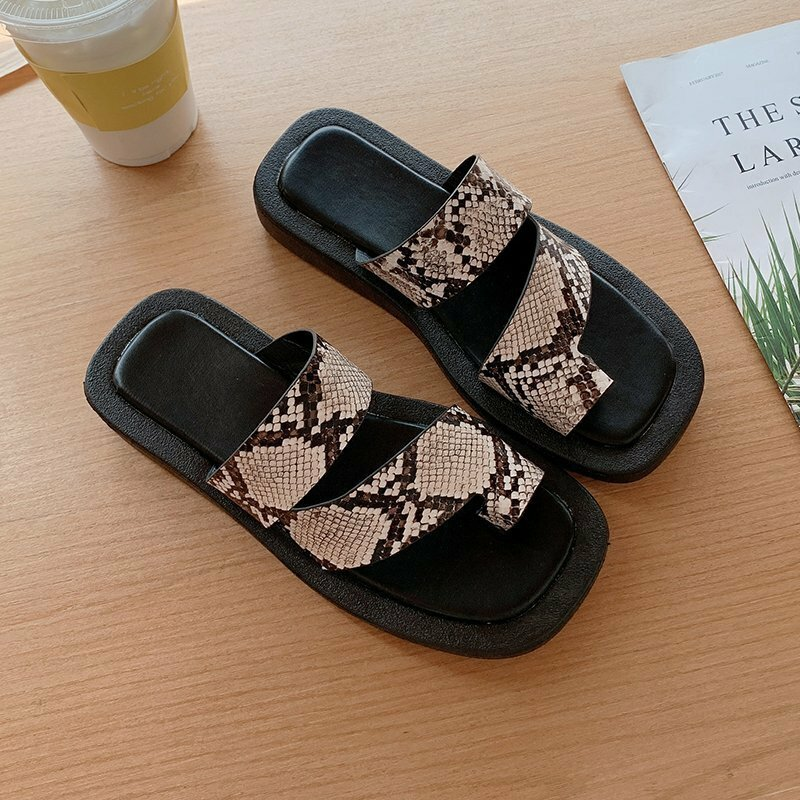 Women Comfy Wearable Clip Toe Casual Platform Slippers