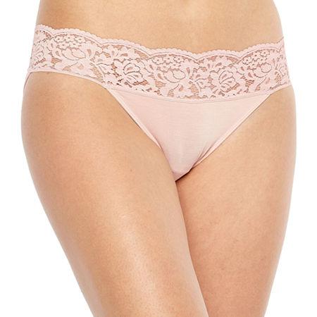 Ambrielle Knit Bikini Panty, Medium , Pink