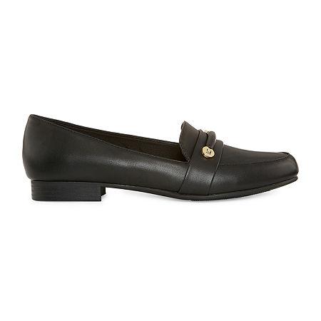 Liz Claiborne Womens Trish Closed Toe Slip-On Shoe, 7 Medium, Black