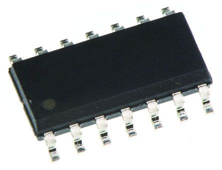 Texas Instruments SN74HCT125D Quad-Channel Buffer & Line Driver, 3-State, 14-Pin SOIC (10)