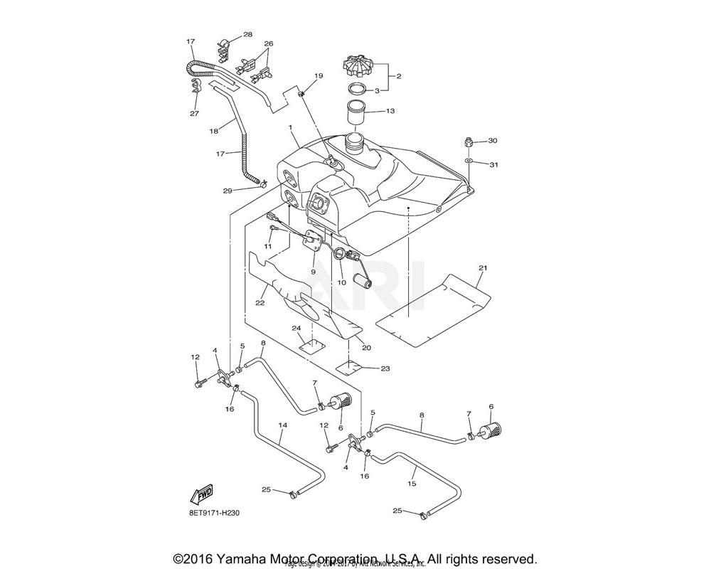 Yamaha OEM 8FA-24141-10-00 PROTECTOR, FUEL TANK