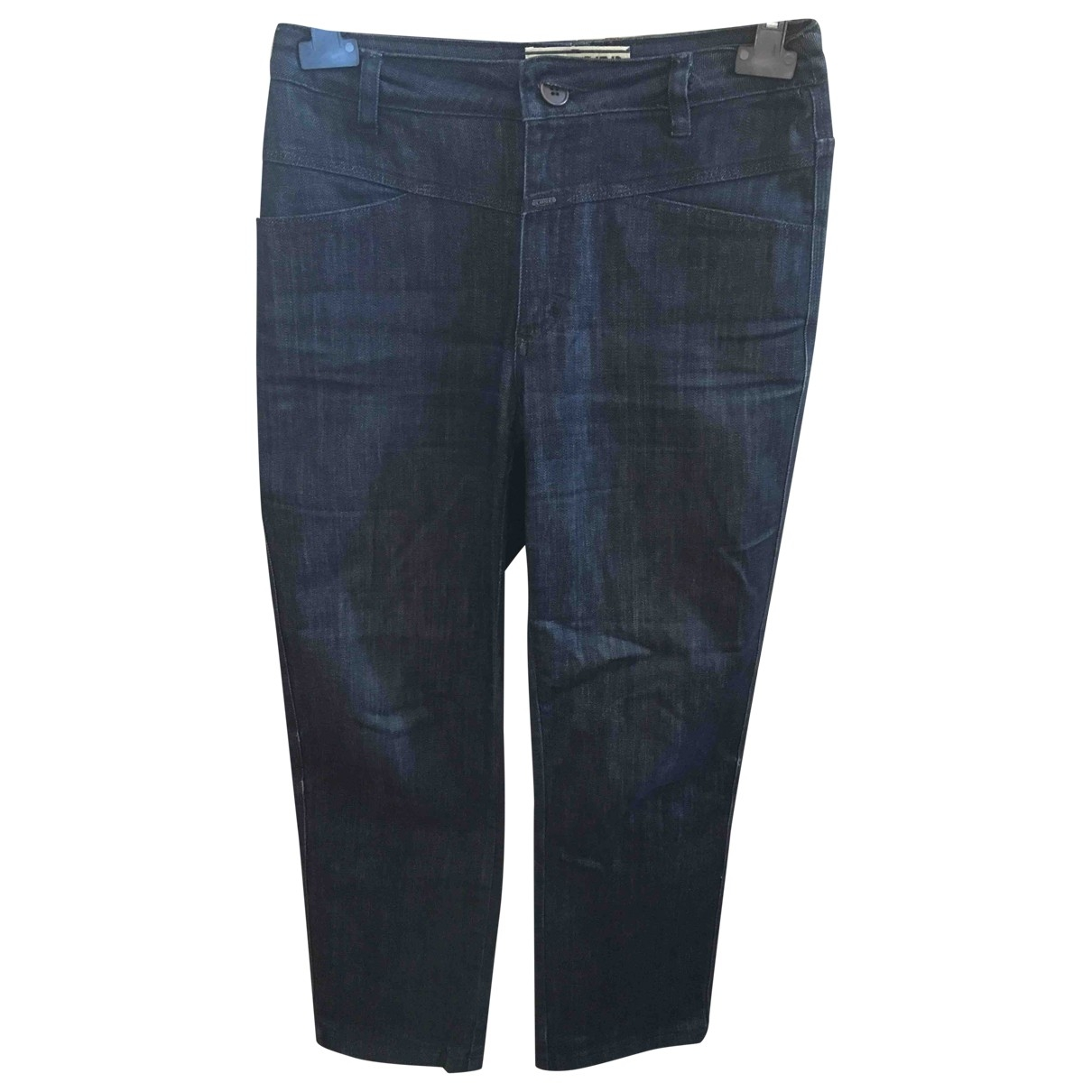 Closed \N Blue Cotton Trousers for Women 42 IT