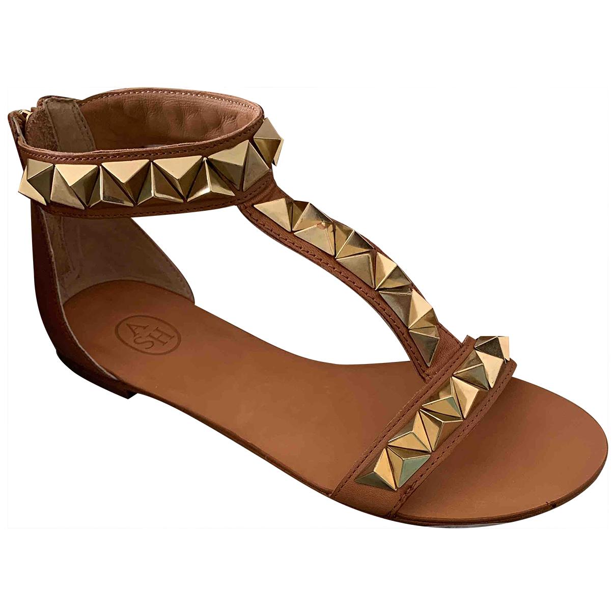 Ash \N Camel Leather Sandals for Women 38 EU