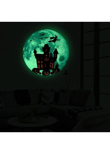1pc 30 X 30cm Halloween Castle Luminous Sticker - One Size