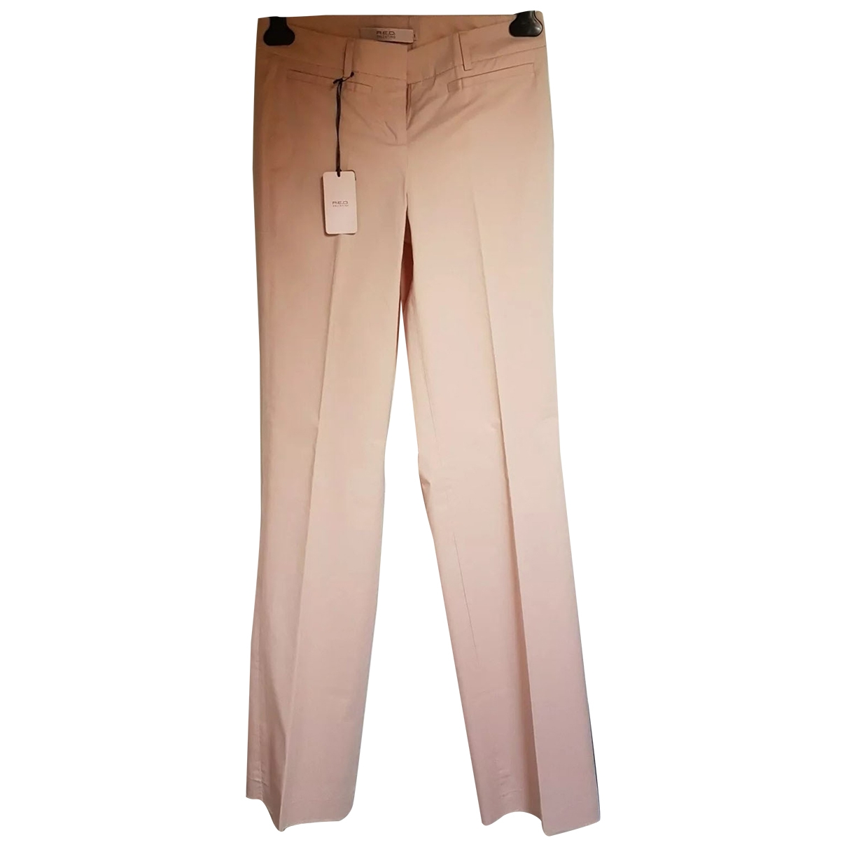 Red Valentino Garavani \N Pink Cotton Trousers for Women 40 IT