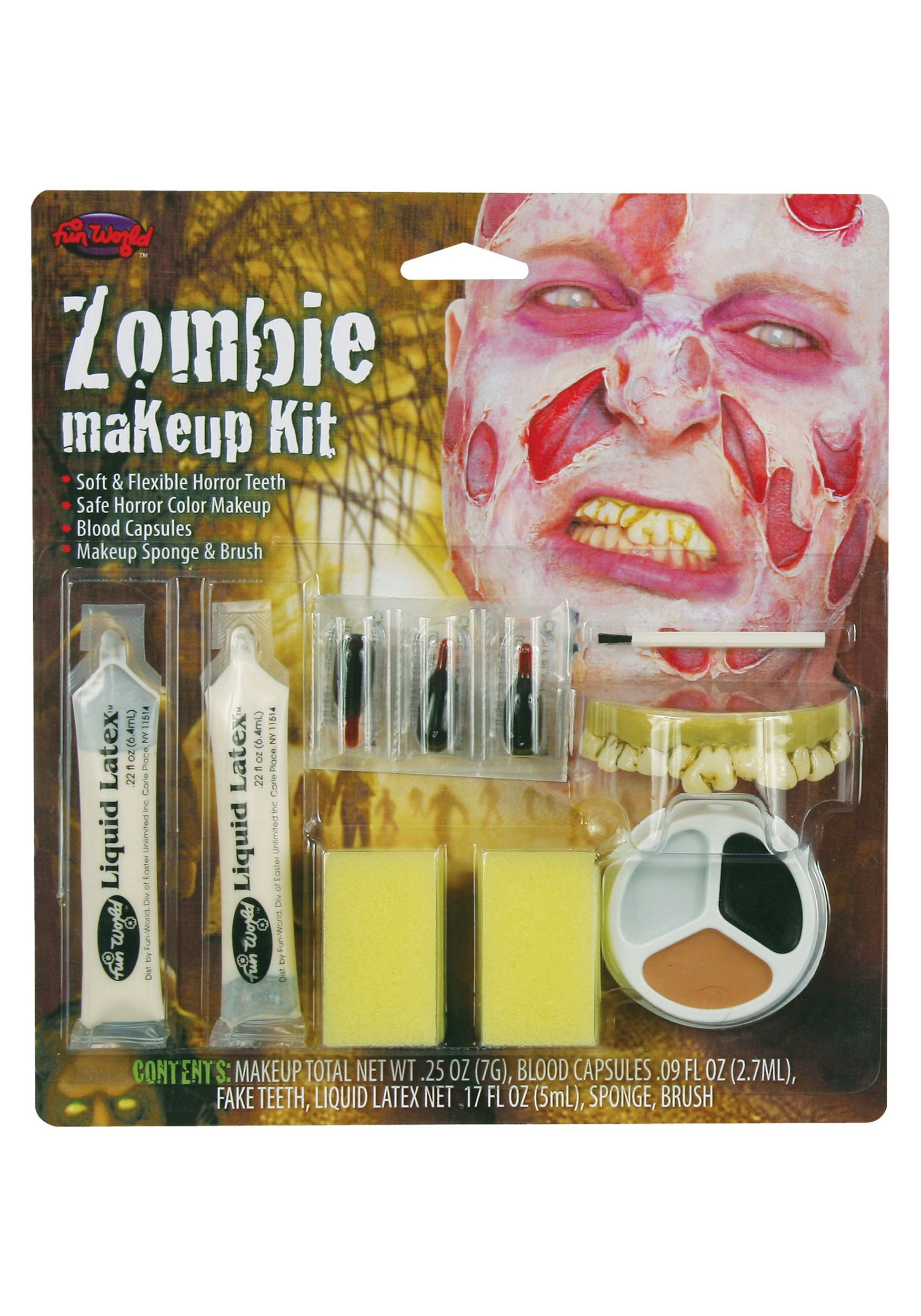 Fun World Scary Zombie Makeup Kit