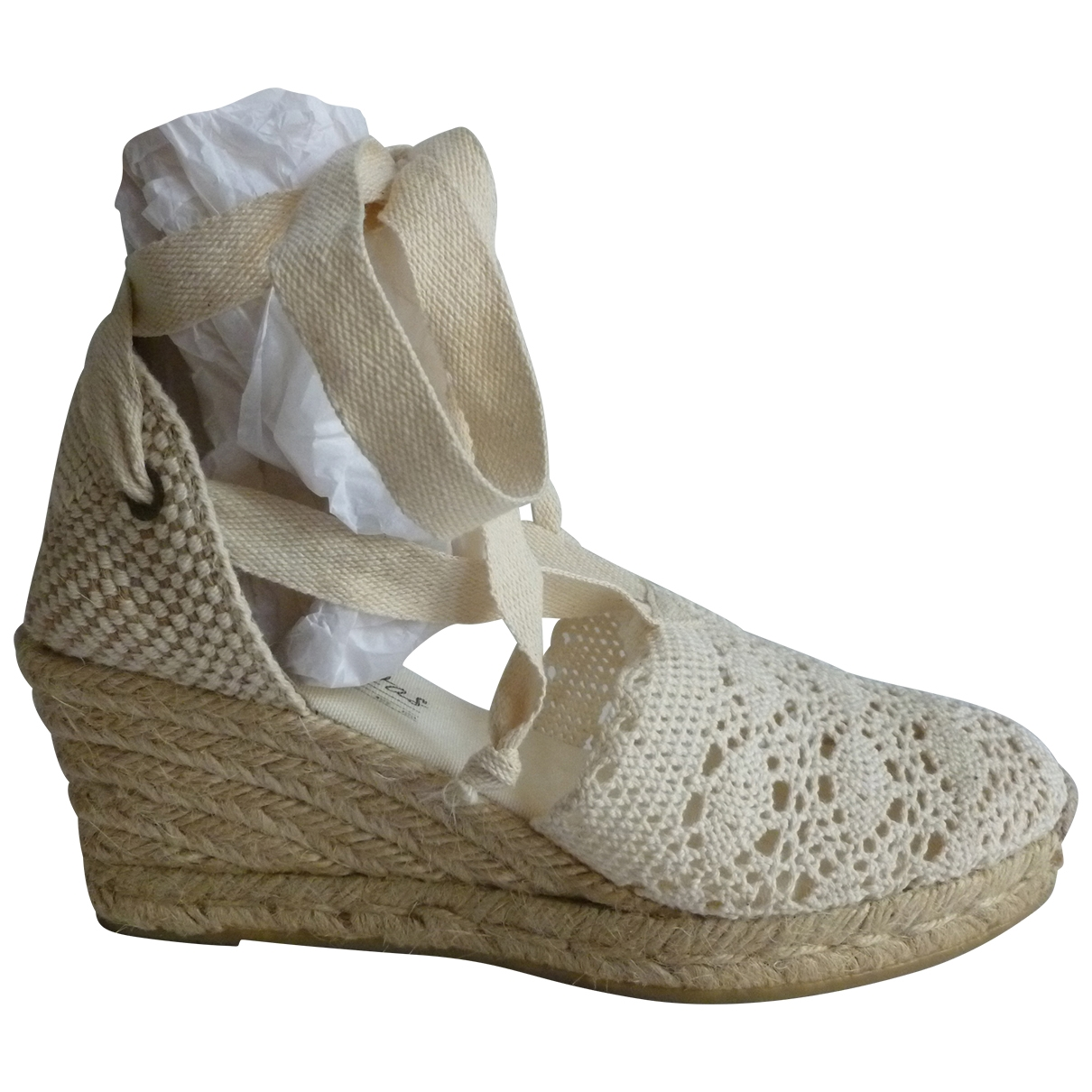 Non Signé / Unsigned \N Ecru Cloth Espadrilles for Women 37 EU