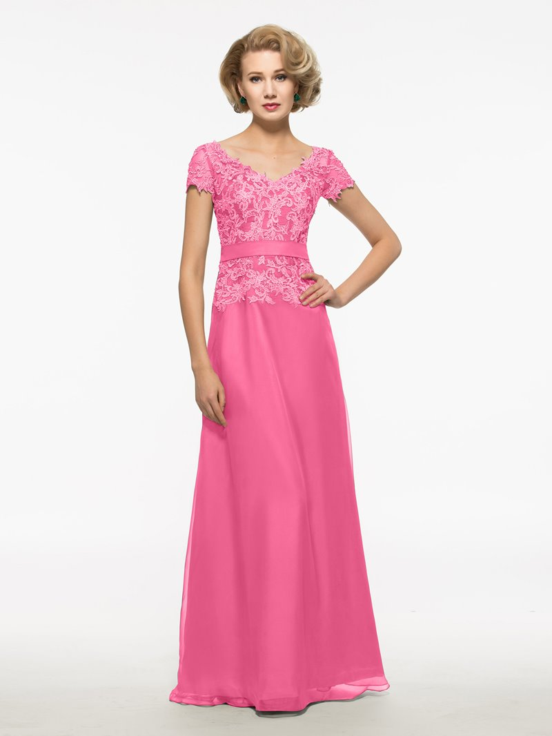 Ericdress Lace Short Sleeves Mother Of The Bride Dress