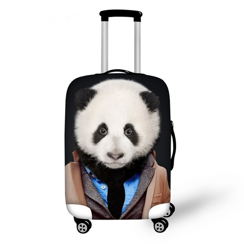 Cute Animals with Cloth Pattern 3D Painted Luggage Cover
