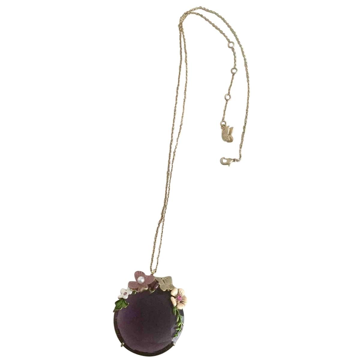 Les Néréides \N Purple Metal necklace for Women \N