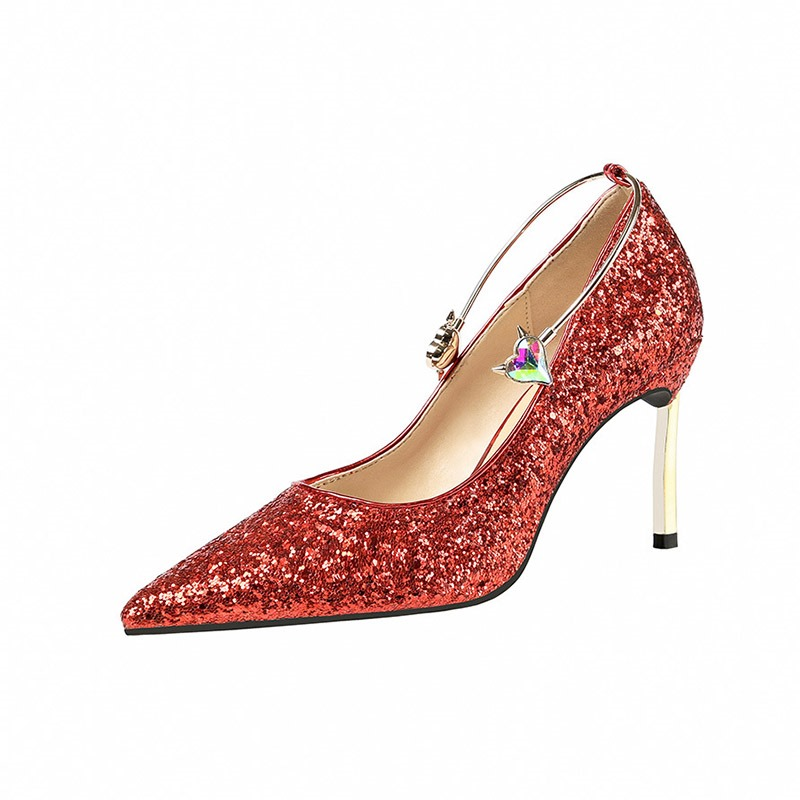 Ericdress Sequin Stiletto Heel Slip-On Low-Cut Upper Women's Pumps