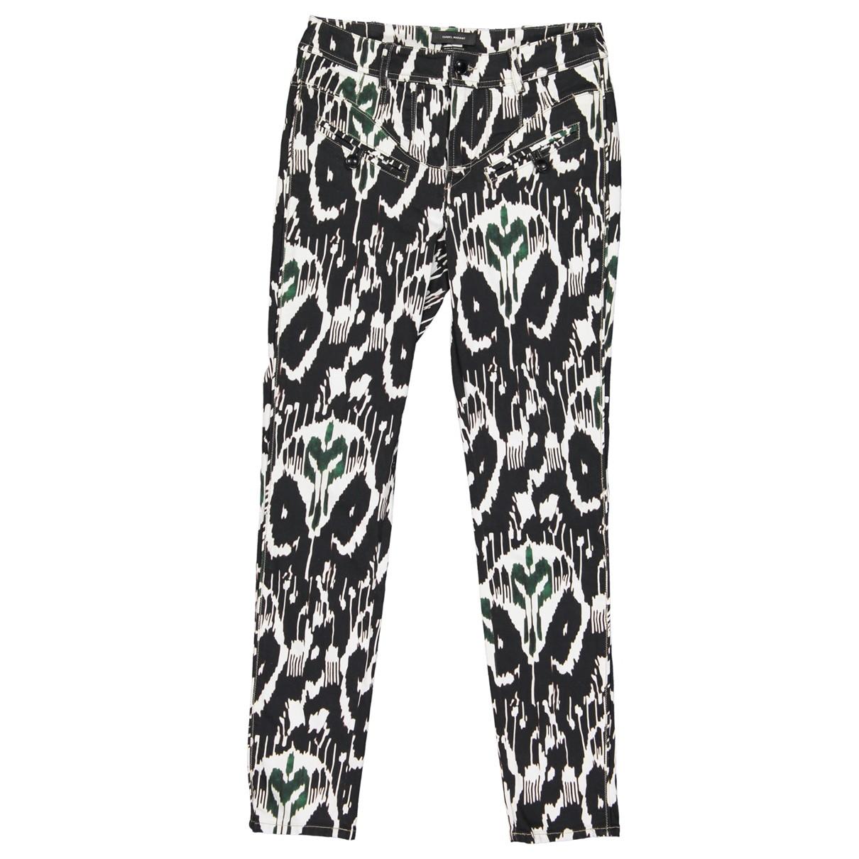 Isabel Marant \N Multicolour Cotton Trousers for Women 40 FR