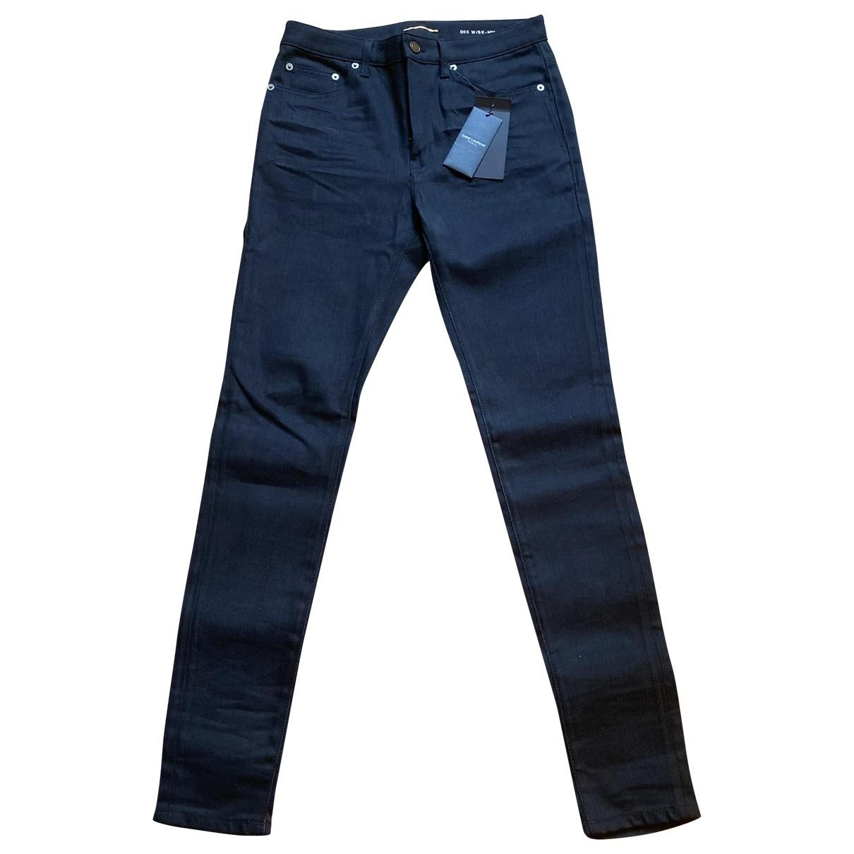 Saint Laurent \N Black Cotton Jeans for Women 35 FR