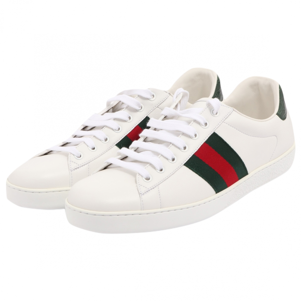 Gucci Web White Leather Trainers for Men 10 UK