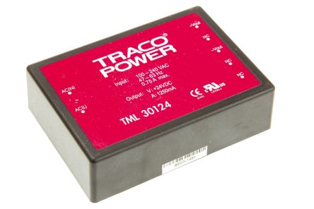 TRACOPOWER , 30W Embedded Switch Mode Power Supply SMPS, 24V dc, Encapsulated