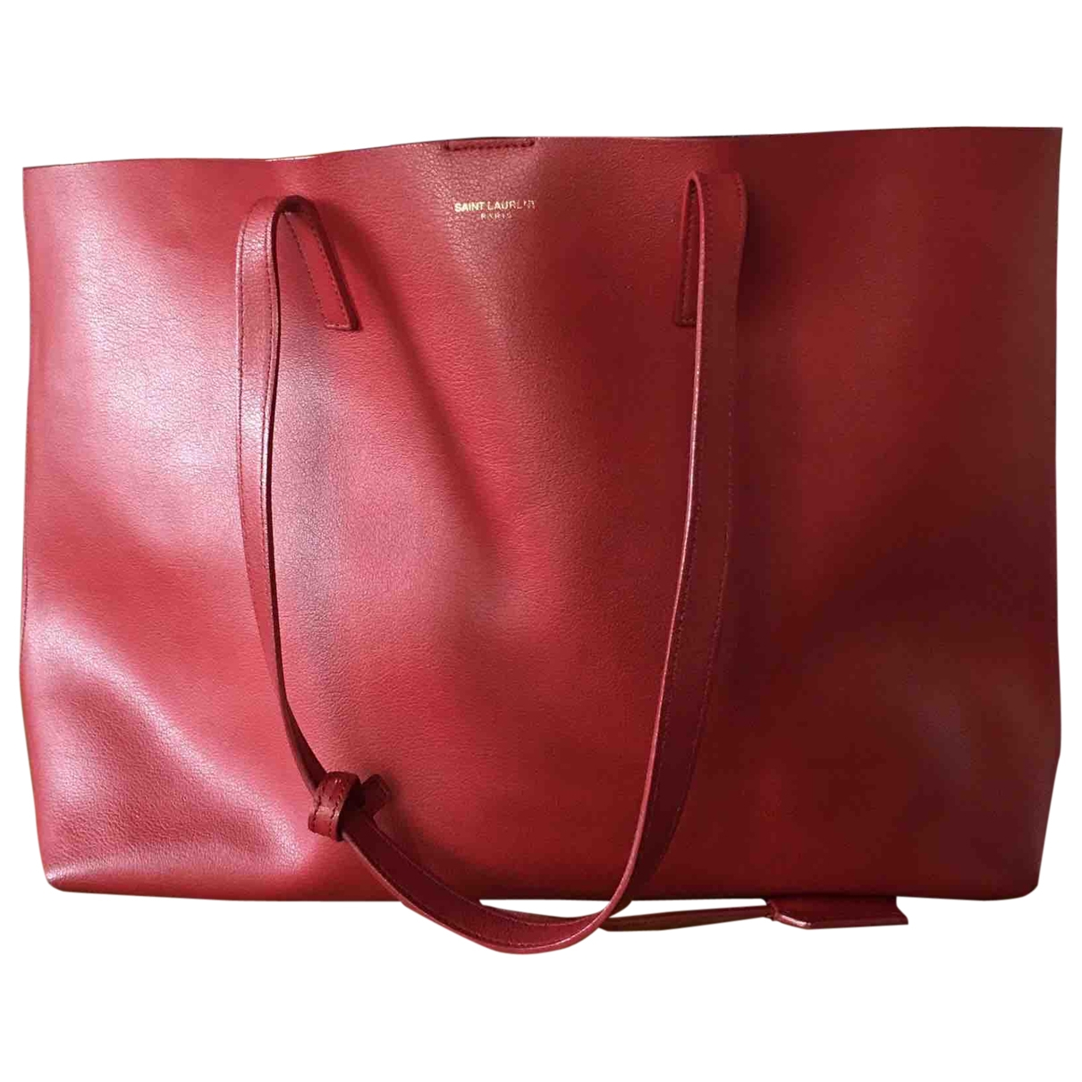 Saint Laurent Shopping Red Leather handbag for Women \N