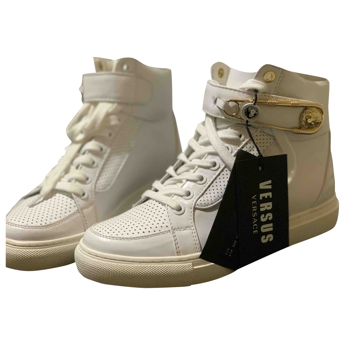 Versus \N White Leather Trainers for Women 35 EU