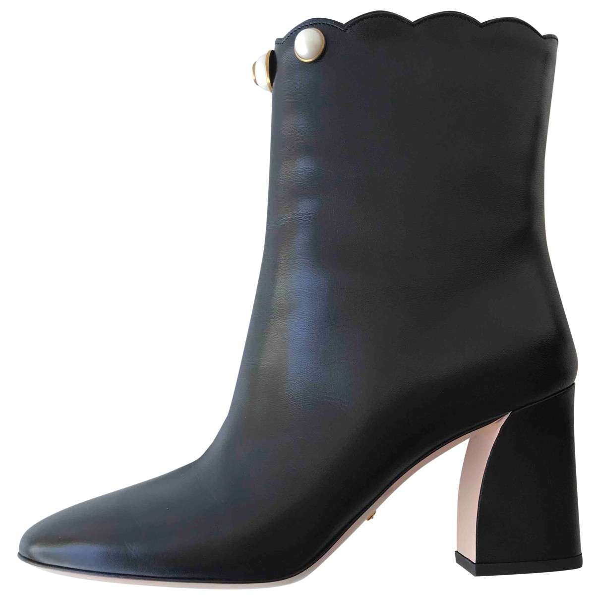 Gucci \N Black Leather Ankle boots for Women 39 EU