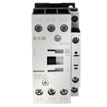 Eaton 3 Pole Contactor - 17 A, 24 V dc Coil, xStart, 3NO, 7.5 kW