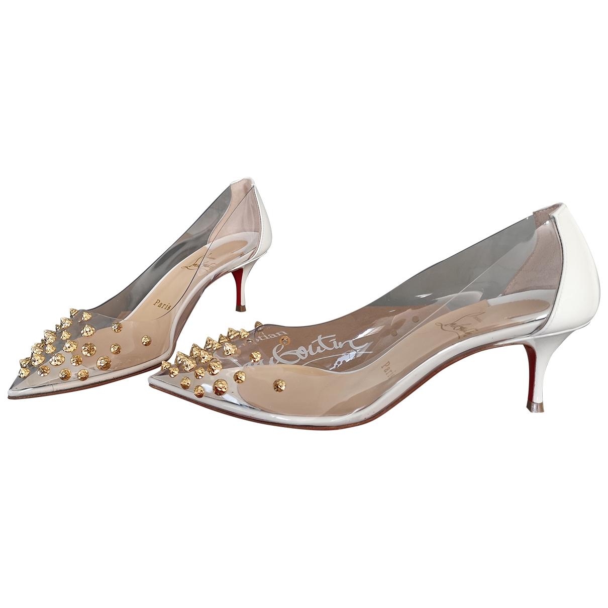 Christian Louboutin Degrastrass White Patent leather Heels for Women 35 EU