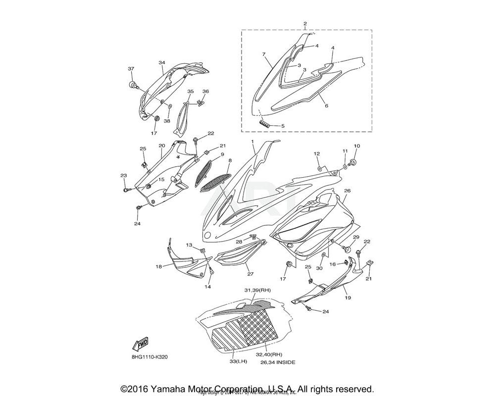 Yamaha OEM 8HG-77165-00-00 TRIM 1