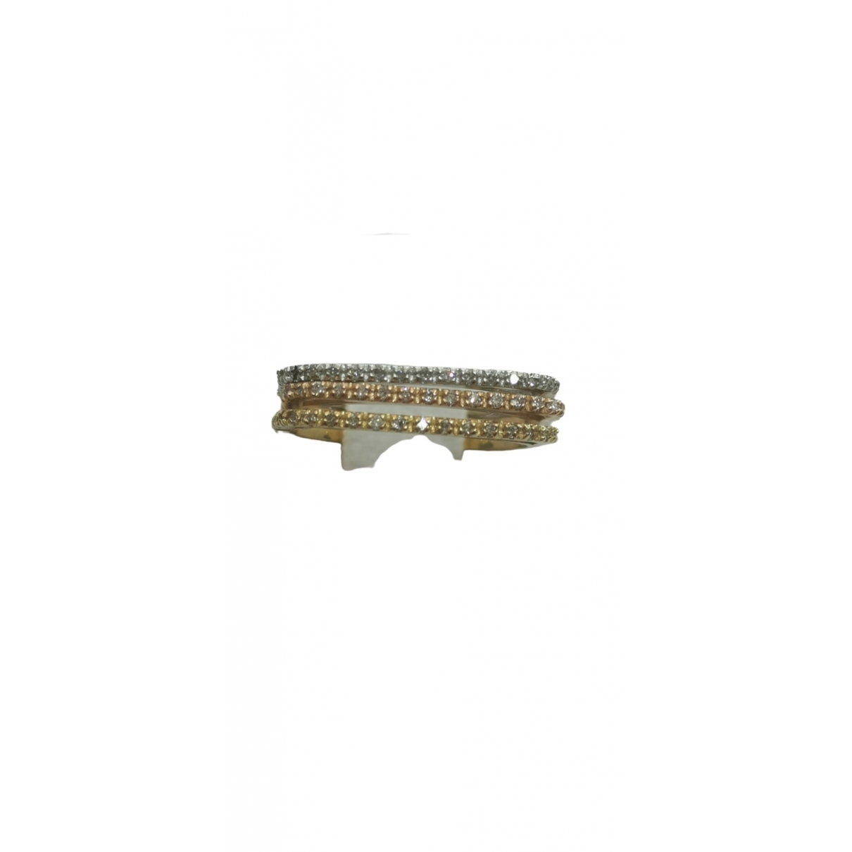 Non Signé / Unsigned Alliance Multicolour White gold ring for Women 54 MM