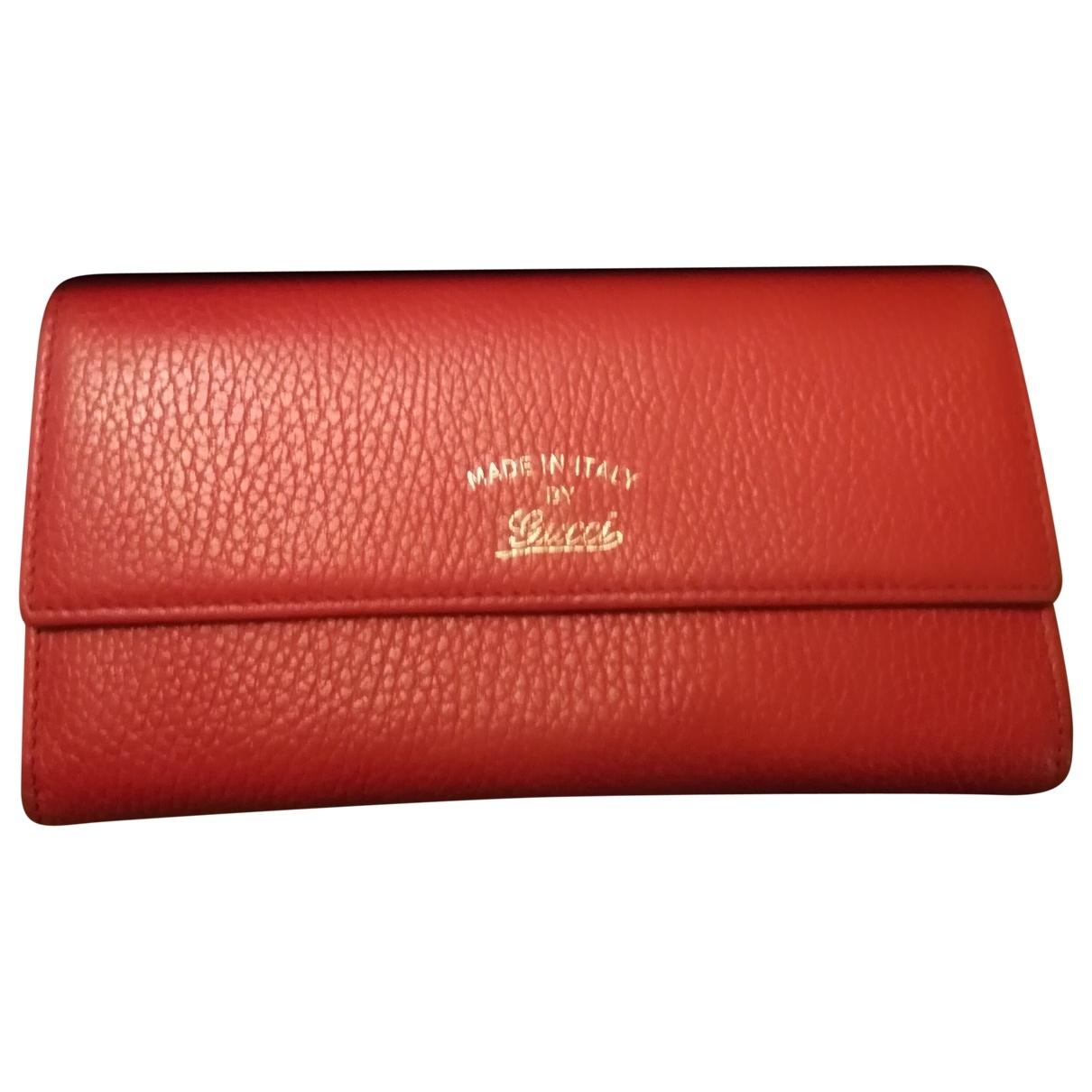 Gucci \N Orange Leather wallet for Women \N