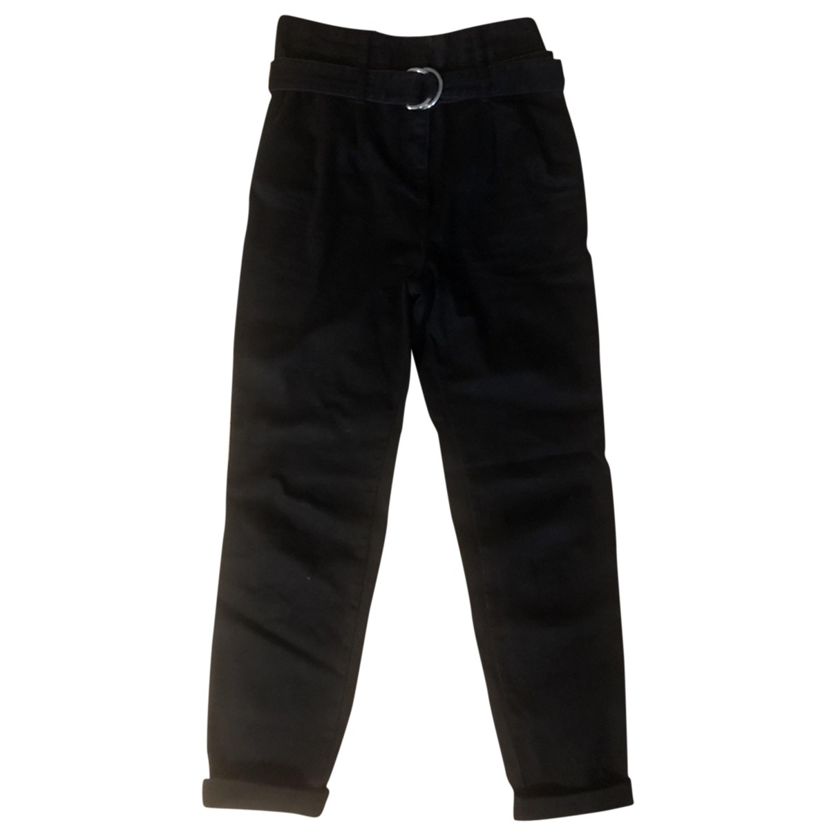 Maje \N Black Cloth Trousers for Women 36 FR