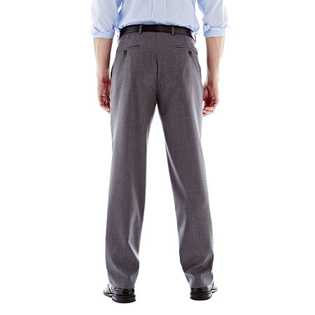 Stafford Executive Super 100 Wool Flat-Front Suit Pants - Classic, 29 30, Gray
